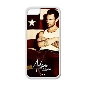 Iphone 6 (4.5) Adam Levine Maroon 5 USA Flag Retro Vintage Hard Case Cover Protector
