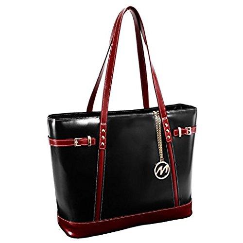black Serafina Da Black Shoulder Bag Tote Leather Cm Mcklein Borsa Nero Spiaggia 38 74fawqdxq