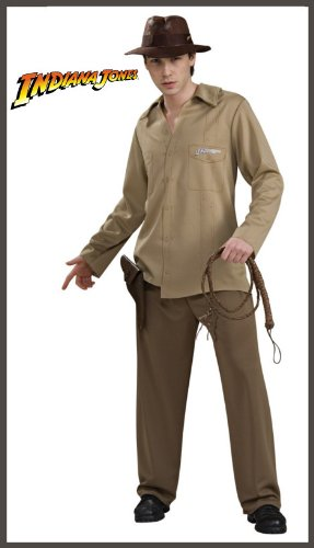 Jones And Hat Whip Adult Indiana (Indiana Jones Adult Costume -)