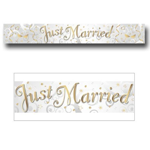 Amscan 2.7 m Holog Just Married Banner Party Accessory Amscan International INT552054