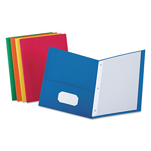 Bazic 3145 Two-Pocket Portfolio with Three-Prong Fastener Colors may... 4 Pack