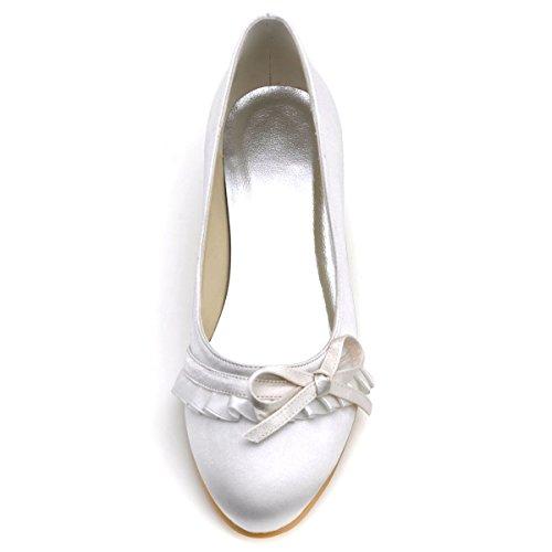 Chaussures Pliez Satin Mariage Bash Talon Ivoire Femme Arc de 032 Elegantpark Satin EL qZgIzaqtn