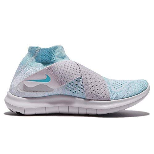 Galleon - Nike Free RN Motion Flyknit 2017 Women Glacier Blue Vast  Grey Pure Platinum 880846-402 (8) 2d15cbb36