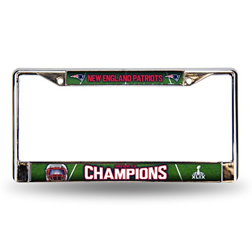 NFL New England Patriots Super Bowl XLIX Champion Chrome Frame, 12 by 6-Inch, Silver (Patriots Xlix Champions compare prices)