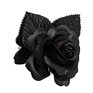 shia 12 Silk Roses Wedding Favor Flower Corsage Black 90