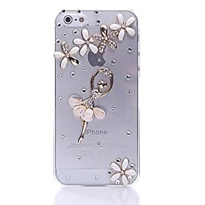 iPhone 5S Case, WKell Ballet Girl Transparent Back Case for iPhone 5/5S