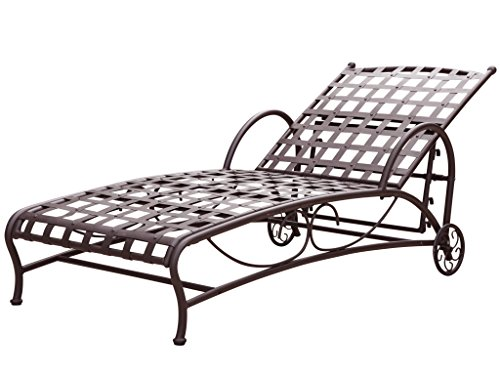 Santa Fe Nailhead Single Multi Position Chaise Lounge