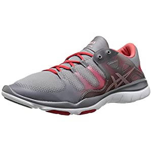 ASICS Women's Gel Fit Vida Fitness Shoe, Taupe/Cotton Candy/Coral Rose, 5.5 M US