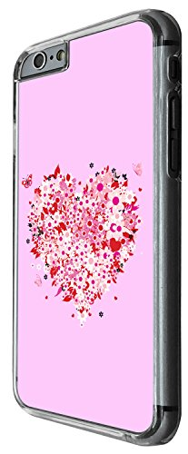 1541 - Cool Fun Trendy Cute pink floral flower heart love valentines day Design iphone 5 5S Coque Fashion Trend Case Coque Protection Cover plastique et métal - Clear