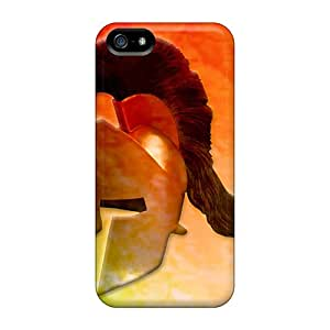 Fashion Tpu Case For Iphone 5/5s- Spartan Helmet Defender Case Cover