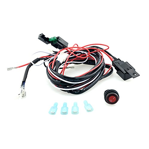 MagiDeal Universal 12V 40A Car Fog Light Wiring Harness Kit Loom For LED Work Driving Light Bar With Fuse And Relay Switch: