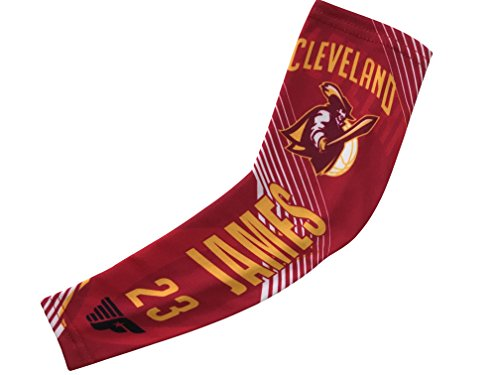 fan products of Forever Fanatics Cleveland James #23 Basketball Fan Compression Shooter Sleeves ✓Breathable Apparel ✓ Muscle Recovery ✓ Improve Circulation (Youth Size (6-13 yrs), Cleveland James #23)