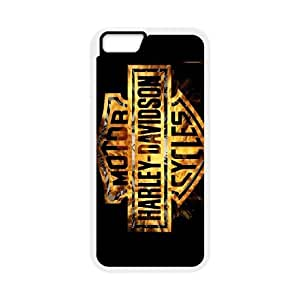 Pattern Hard Case Cover iPhone 6 Plus 5.5 Inch Cell Phone Case White Harley Davidson Dakeq Back Skin Case Shell