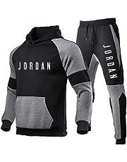 2021 Hoodies and Jogging Pants for Men, Jordan Mens Tracksuit Athletic, 3D 印花 Casual Sports Gym Sweatsuit (s-3xl)