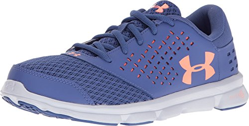Under Armour Kids Girl's UA Micro Rave Run (Big Kid) Deep Periwinkle/White/London Orange Athletic Shoe (Periwinkle Cross)
