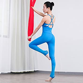 Qsheulx Yoga Mujer Yoga Mono Air Mesh Transpirable Costuras ...