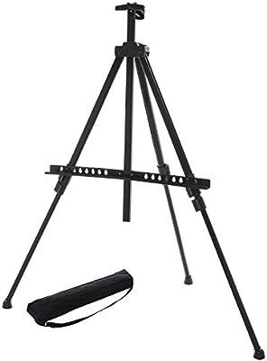 Amazon.com: Ajustable Negro Trípode de aluminio de caballete ...