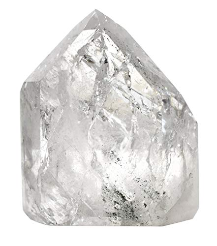 Quartz Crystal Point, 4oz Specimen – Natural, 100% Authentic Brazilian Quartz – The Artisan Mined Series by hBAR