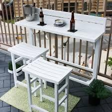 MIYU Furniture 3-piece Balcony Bar Lily