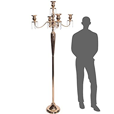 Event Decor Direct The Antiquity- Massive 6ft Tall 4-arm Candelabra in Soft Gold