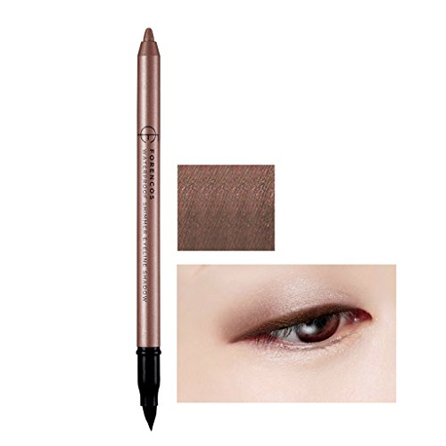 FORENCOS 2 in 1 Shimmer Eyeline Shadow with Brush 1.8g (Color : Cacao) - Long-lasting waterproof Eye makeup, Smooth, creamy-textured