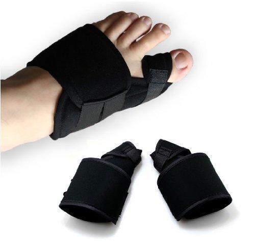 Uarter Big Toe Bunion Splint Hallux Valgus Foot Pain Relief Corrector 2pcs for Left and Right Foot Size L ()