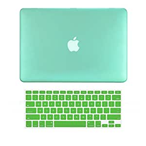 "TopCase 2 in 1 Ultra Slim Light Weight Rubberized Hard Case Cover and Keyboard Cover for Macbook Pro 13 - inch 13"" (A1278 / with or without Thunderbolt) with TopCase Mouse Pad (Macbook Pro 13"" A1278, Green)"