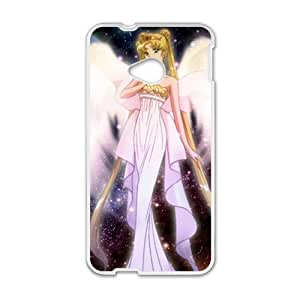 QQQO White Girl With Wings Fashion Comstom Plastic case cover For HTC One M7