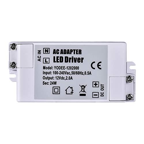 - LED Driver AC 100-240V to DC 12V Transformer Power Supply 24W 12V DC 2A for LED Strip Light G4 MR11 MR16 Light Bulbs