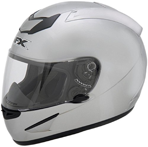 AFX FX-95 Solid Mens Motorcycle Helmets - Silver - X-Large