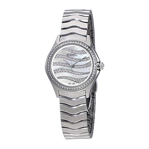 Ebel Wave Watch - Ebel Wave Diamond White Mother of Pearl Dial Ladies Watch 1216270