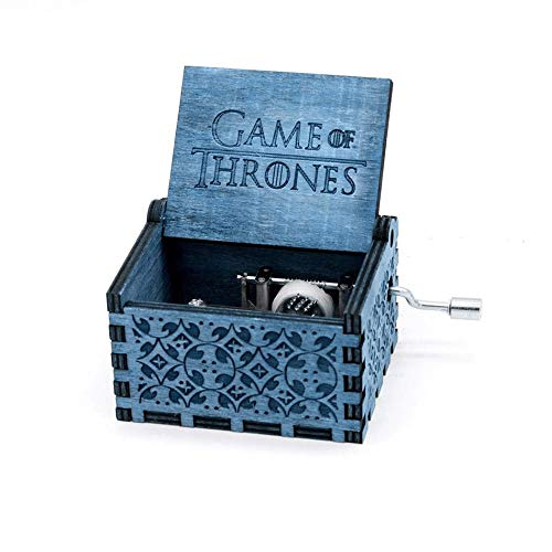 Game Of Thrones Classic Mini Blue Wooden Music Box