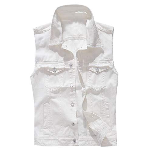✿HebeTop✿ Men's Military Safari Utility Drawstring Lightweight Vest Jacket with Pocket White