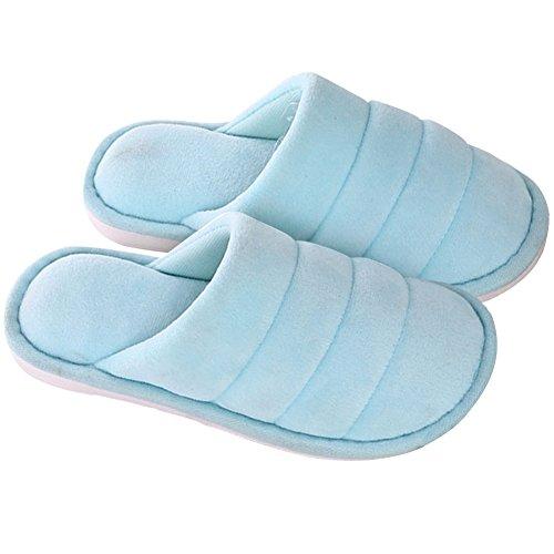 Rozenzomer Super Zacht Anti Slip Warm Katoen Huis Slippers Meer Blauw