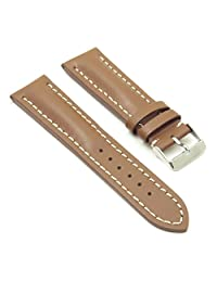 DASSARI Transit Tan Smooth Leather Watch Band for BREITLING 22/20 22mm