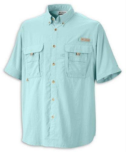 Columbia Men's Bahama II Short Sleeve Shirt, Gulf Stream, 2X Tall