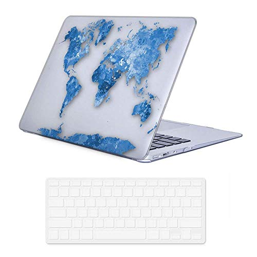 iLeadon MacBook Air 13 inch Protective Hard Case Rubber Coated Ultra Thin Shell Cover+Keyboard Cover for MacBook Air 13 inch Model A1369/A1466 (MacBook Air 13