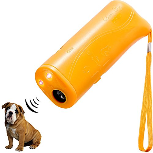 HXDZFX LED Ultrasonic Dog Repeller and Trainer Device 3 in 1 Anti Barking Stop Bark Handheld Dog Training Device (Deterrent Barking Dog Device Training)