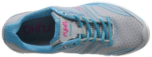 RYKA Womens Dynamic Cross-Training Shoe Cool Mist Grey/Detox Blue/Athena Pink SYZjFvJey
