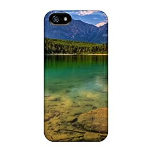 Premium EFDYpeY7373tseqt Case With Scratch-resistant/ Turquoise Reflections Case Cover For Iphone 5/5s