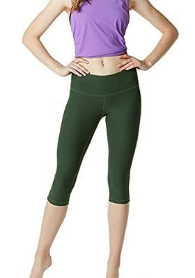 """TSLA Yoga 17"""" Capri Mid-Waist Pants w Hidden Pocket FYC21/FYC24/FYP21"""