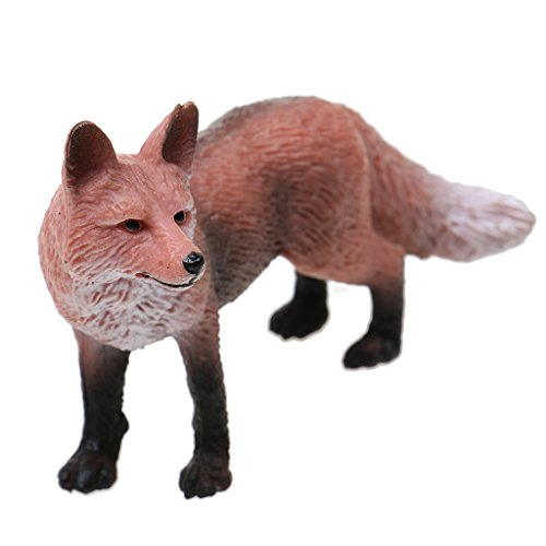 Fenteer Realistic Red Fox Wild Life Animal Model Figurine for Kids Story Telling Toy