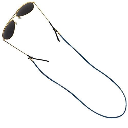 Cuir câbles Soleil En De Pu Porte 74cm Corde Cuticate Sport Sangle Bleu Lunettes q0wxgf