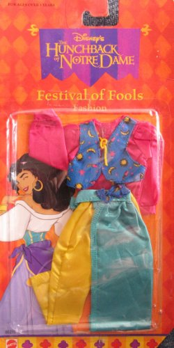 Disney Hunchback of Notre Dame Esmeralda Fashion Outfit: Festival of Fools (Arcotoys, Mattel)