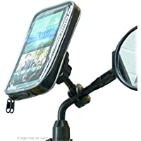 Weather Resistant Bike Scooter Moped Mirror Phone Mount Holder for HTC Desire 816 (sku 19904)