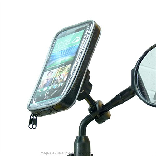 Weather Resistant Bike Scooter Moped Mirror Phone Mount Holder for HTC Desire 816 (sku (Weather Resistant Phone)