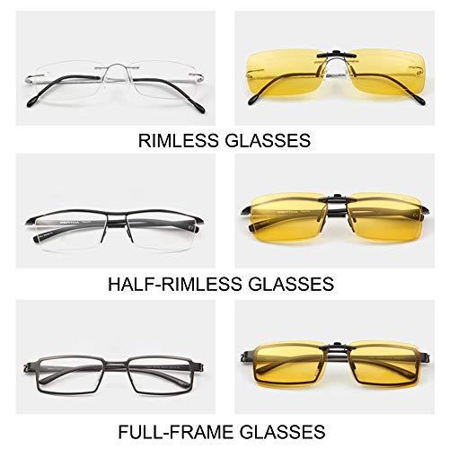 recetados para libre de en de sol clip unisex aire miopía polarizado pesca sol Buenas Night Clip gafas de conducción Vision estilo Clip gafas anteojos gafas al para I1Y8wAEq