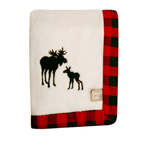(Trend Lab Northwoods Framed Receiving Blanket, Moose Applique)