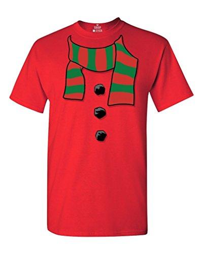 [Shop4Ever Snowman Scarf Costume T-shirt Xmas Shirts XXXXX-LargeRed 17501] (A Christmas Carol Costume Design)