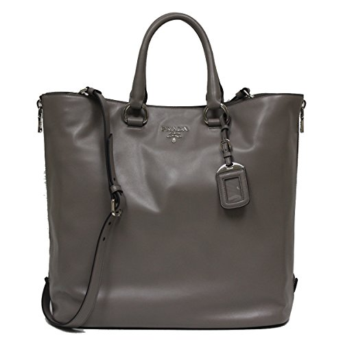 Prada-Soft-Calf-Leather-Shopping-Tote-Bag-BN2477-Grey-Argilla